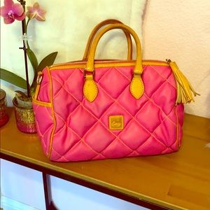 Pink quilted Dooney and Bourke purse
